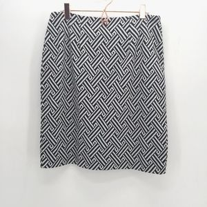 Halogen Pattern Ponte Pencil Skirt